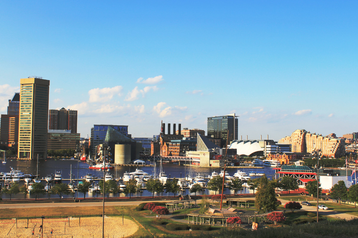 The Inner Harbor of Baltimore.