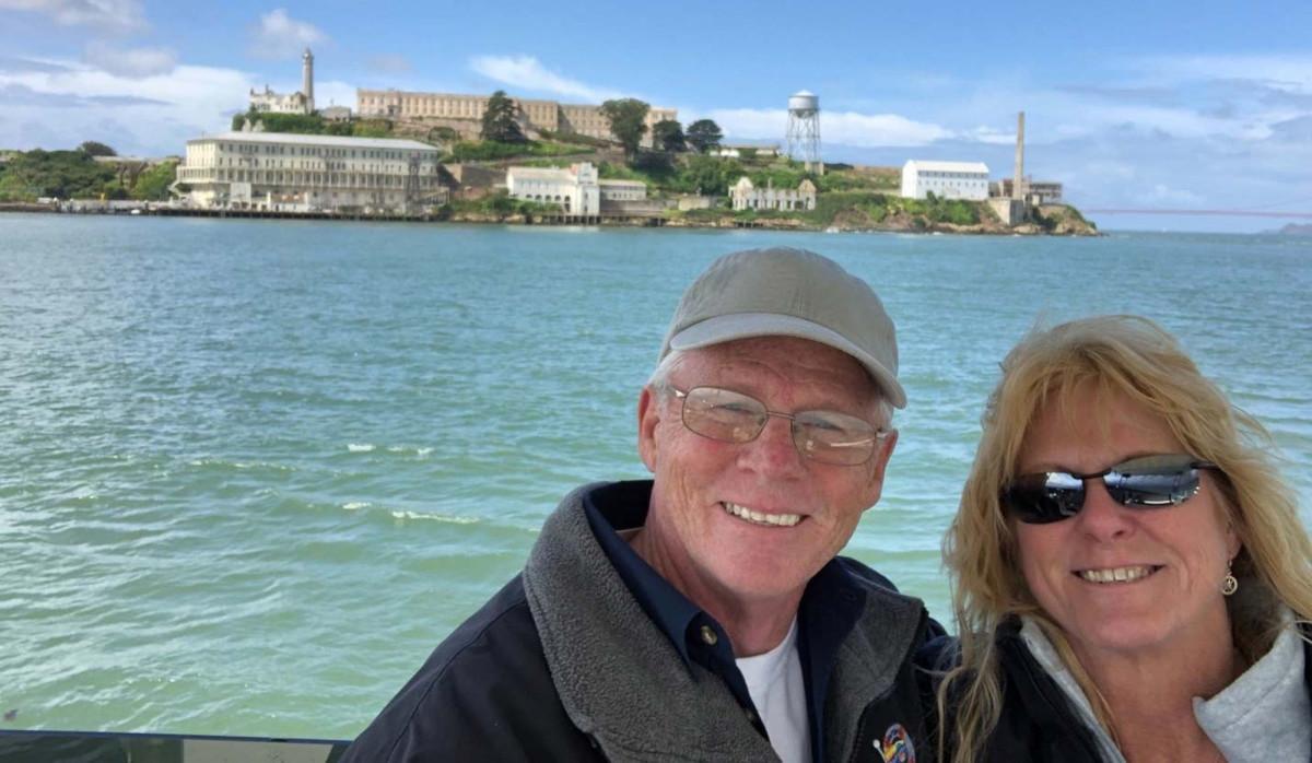 Sightseeing Alcatraz.