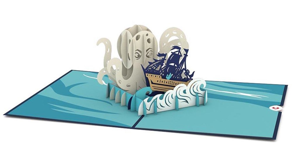 Need a good card for Dad? check out this great Kraken card from Love Pop Cards. Perfect for waxing poetic or a good Kraken related dad joke.