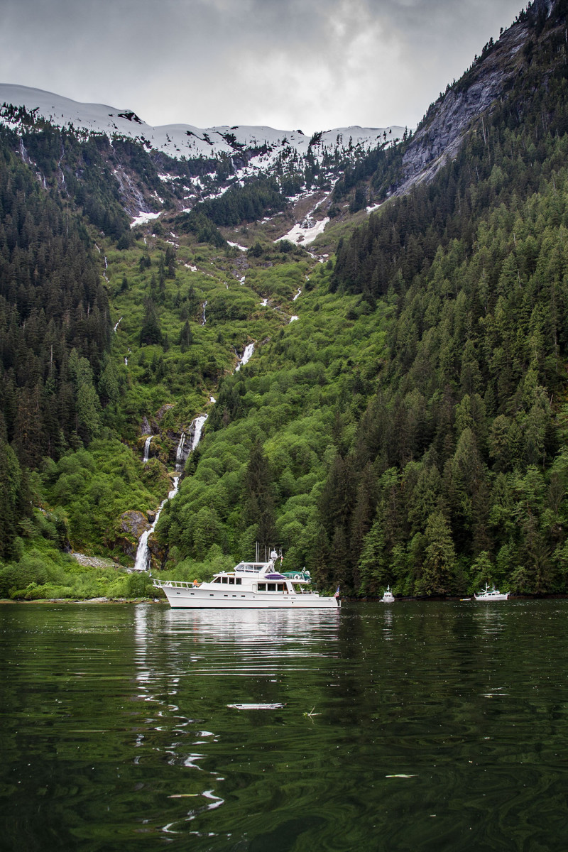 Six-mile-long Khutze Inlet delivers breathtaking views, sheer slopes, deep-water anchorage, plenty of wildlife and, depending on the time of year, quite a bit of solitude.