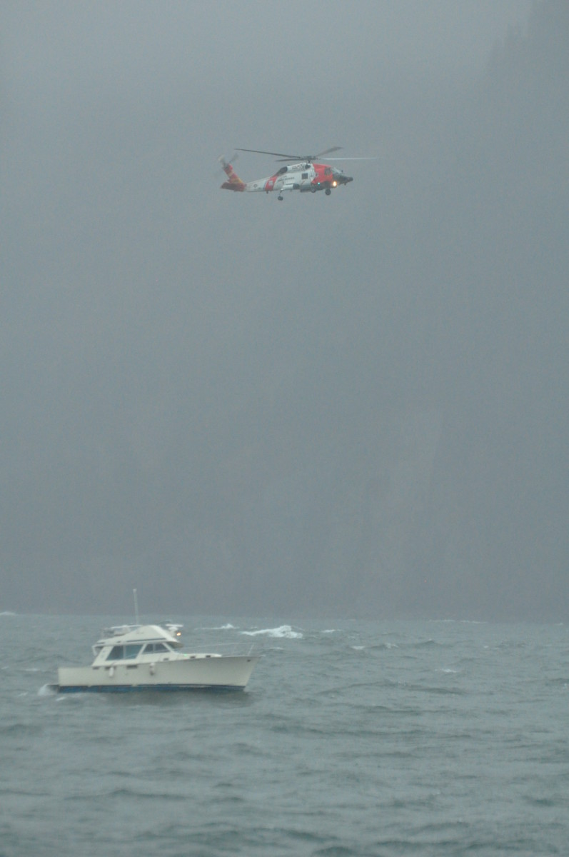 USCG responds to a boat that is adrift.