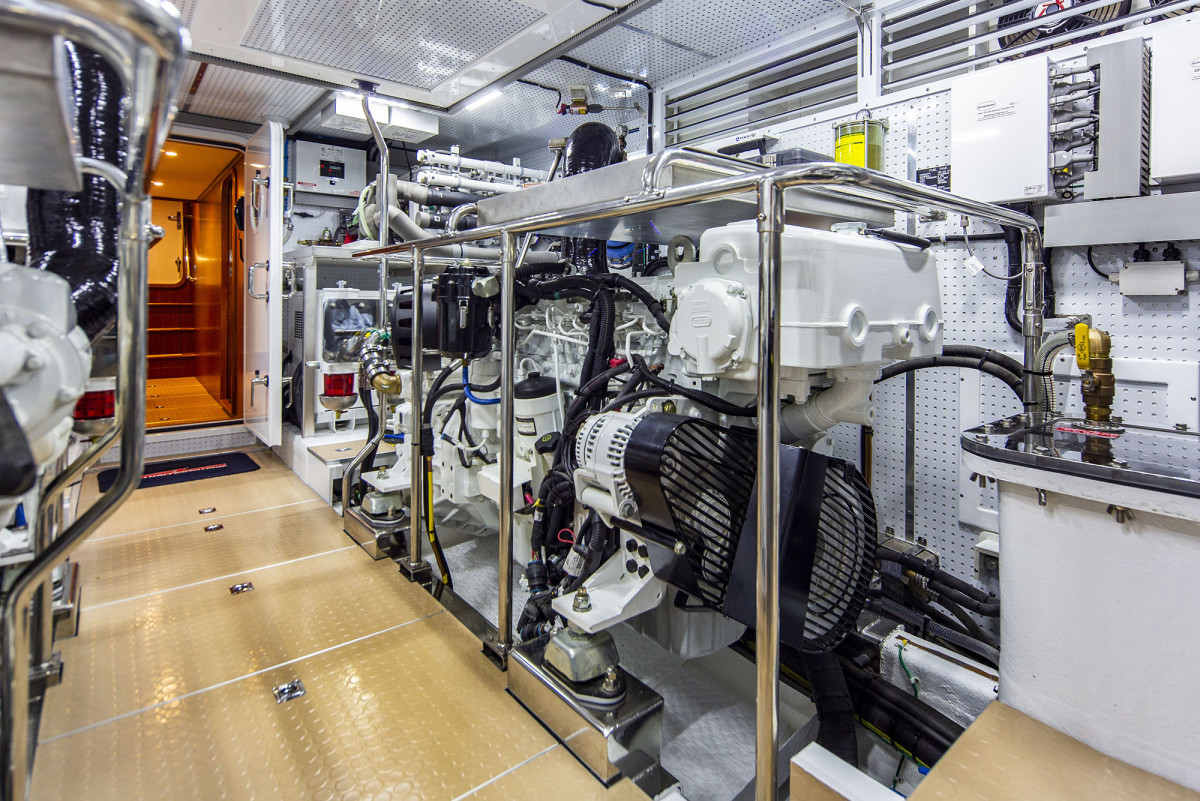 The engine room offers important accessibility.