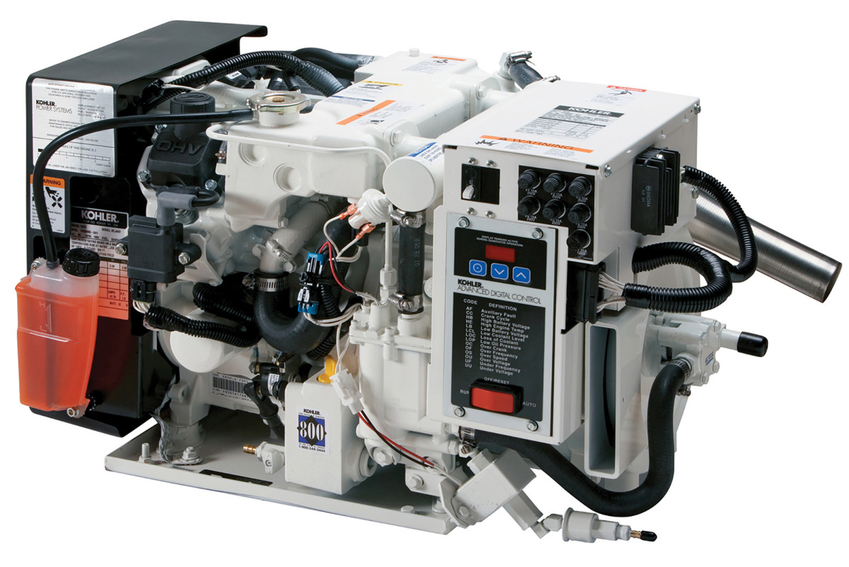 Kohler manufactures both gasoline-fueled gensets (shown) as well as larger, diesel-powered models.