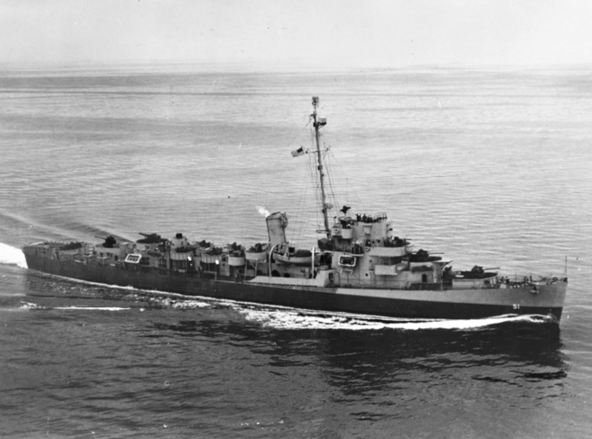 USS Buckley, DE-51, the lead ship of the most prevalent U.S. destroyer escort class of World War II.