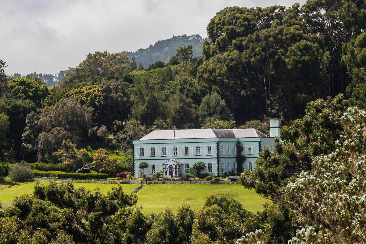 "The scenery of St. Helena is best described as ""beautifully rugged"" with royal undertones, such as Plantation House."