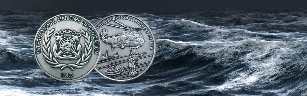 The International Maritime Organizations award for Exceptional Bravery at Sea.