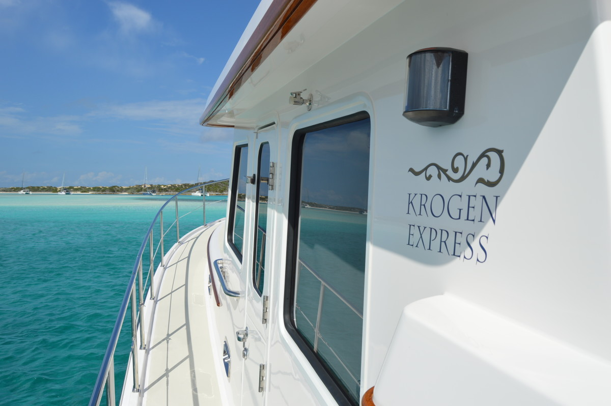 Wide side decks and high handrails ensure accessibility and safety, especially while underway.