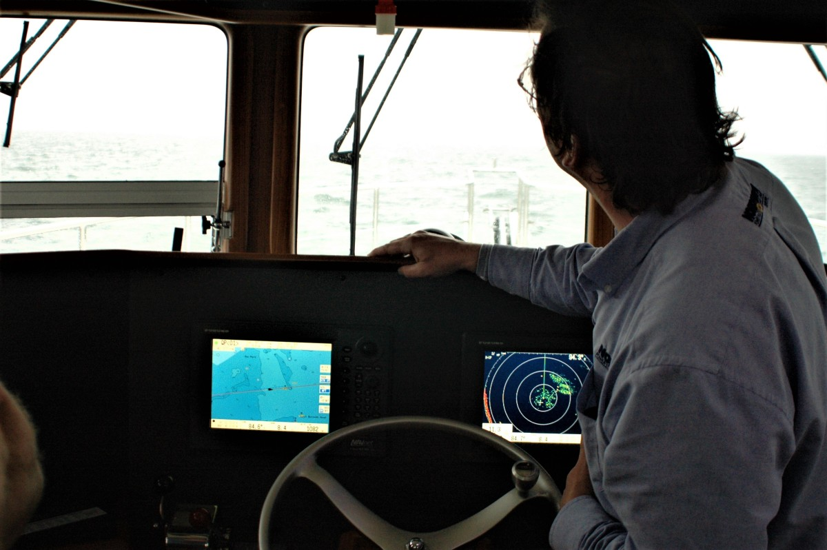 A skipper uses AIS to his advantage during a foggy passage, while wisely keeping another eye fixed on the horizon.