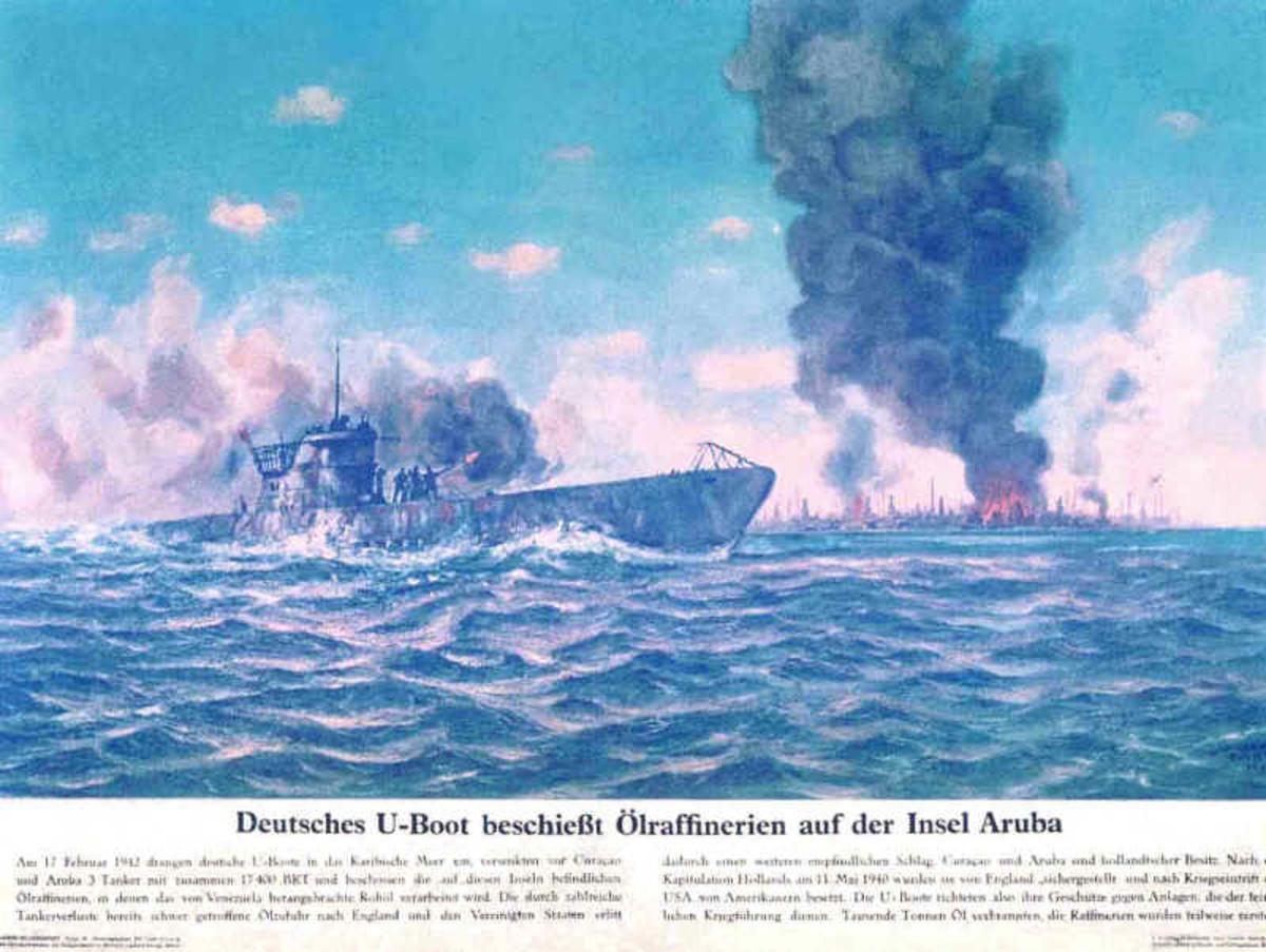 The Germans boasted about their raid against Aruba.