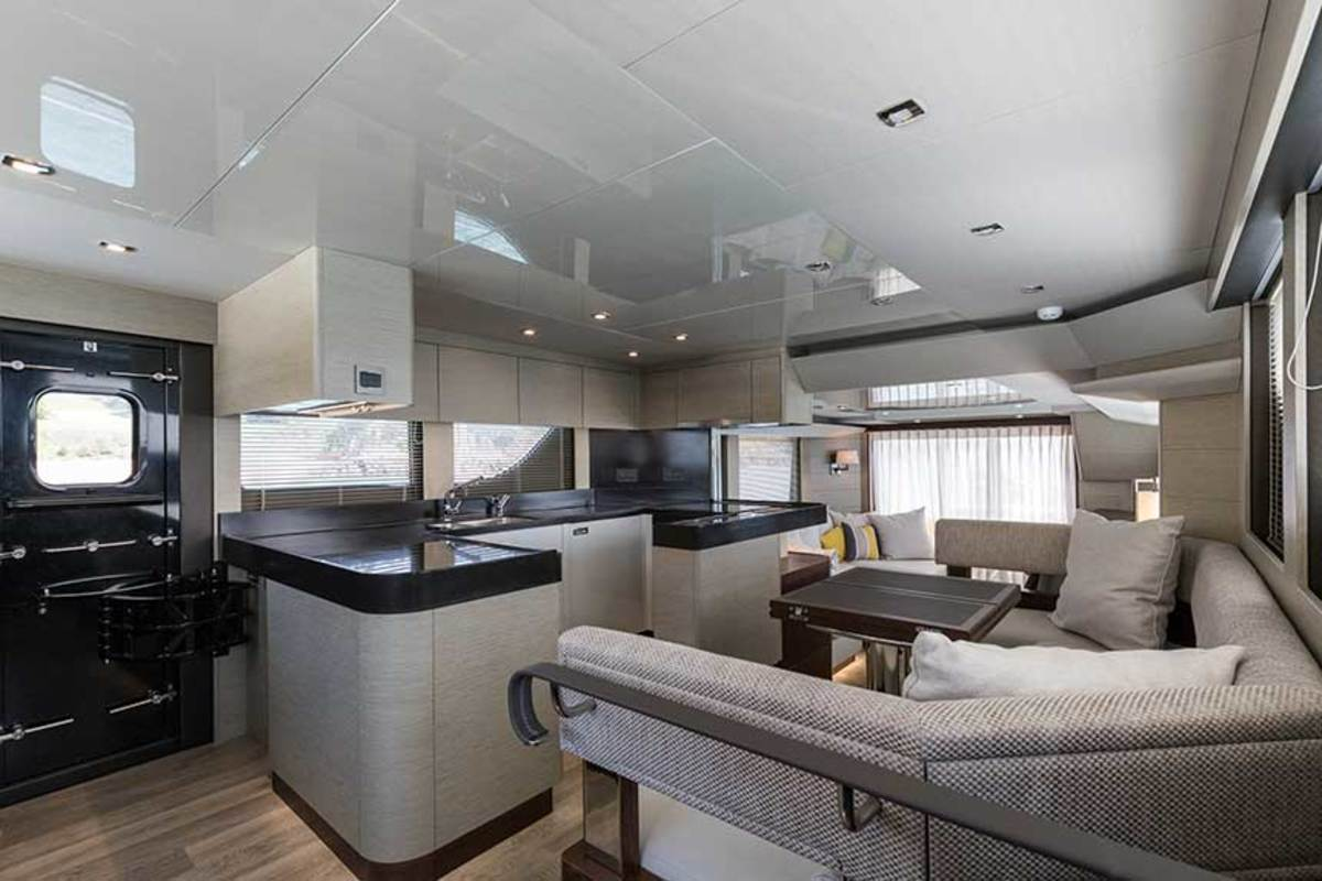Essential to any great cruising boat is the design's attention to volume, and the Hardy 65 provides ample social and work spaces to handle comfortable long-distance cruising.