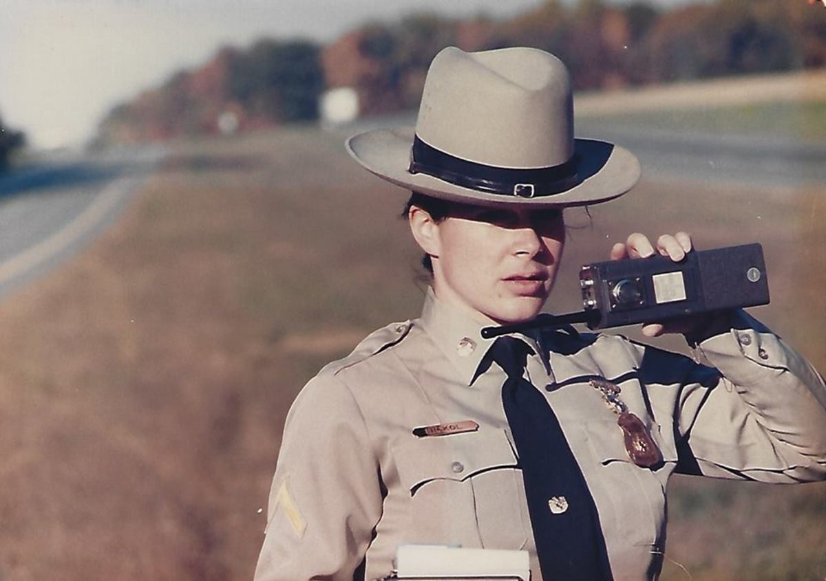 Wiley Alt as a young Maryland state trooper.