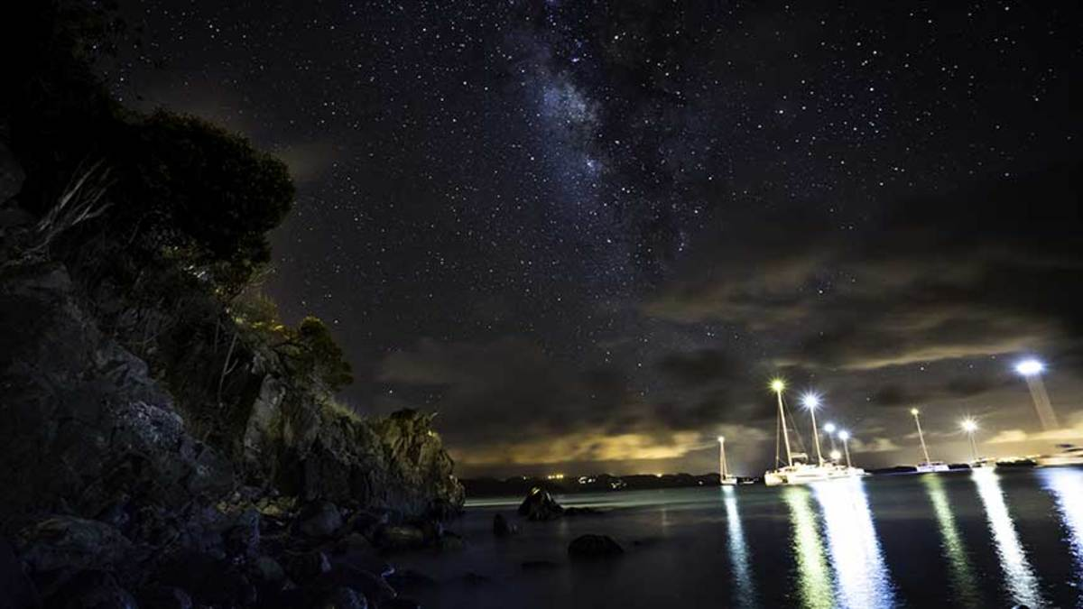 The Milky Way beams brightly over BVI anchorages, far from big city lights and polluted air.