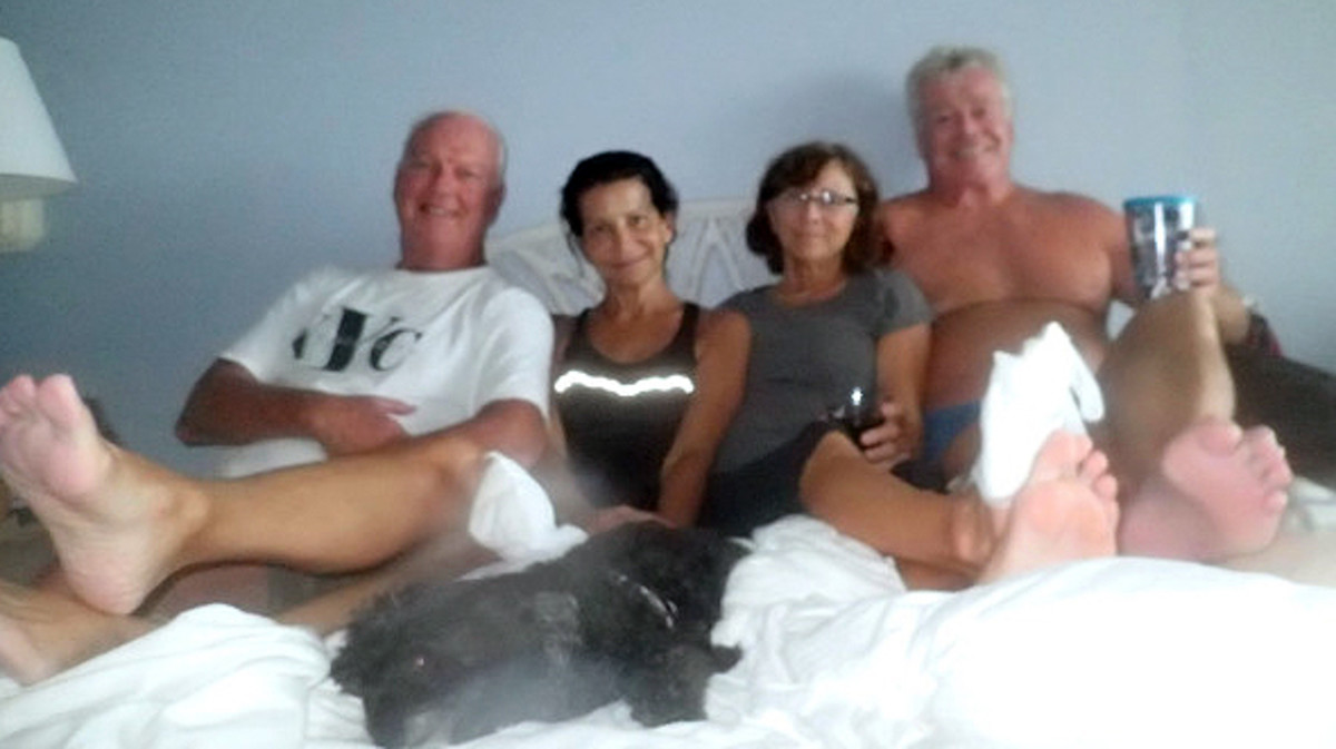 All we can do is pray and stay positive and encourage one another. Russ and Lin with Sandra me and Baci.