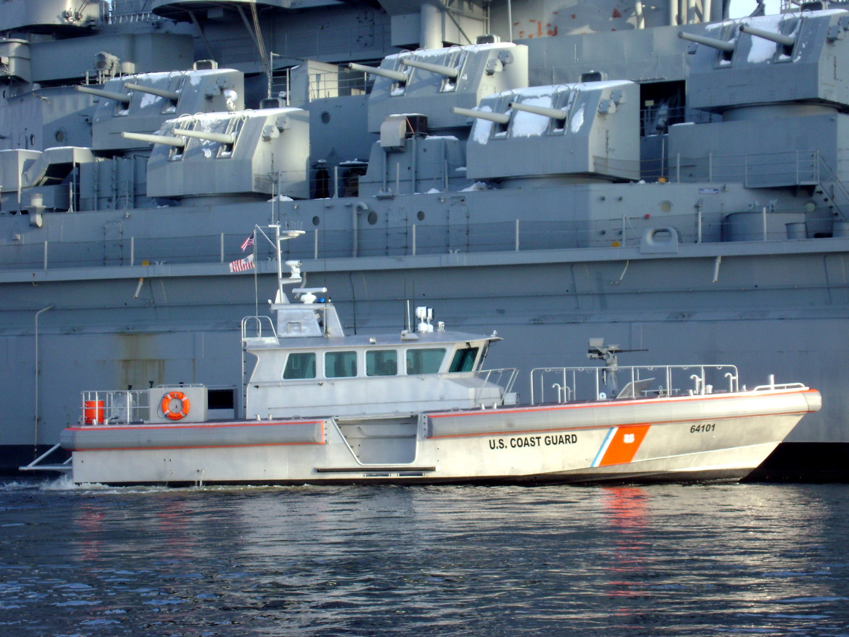 This 64-foot patrol boat is built by Gladding-Hearn to protect Navy subs as they go in and out of port. It is owned by the Navy, but operated by the U.S. Coast Guard. The design is a good candidate for conversion to a long-range cruiser.