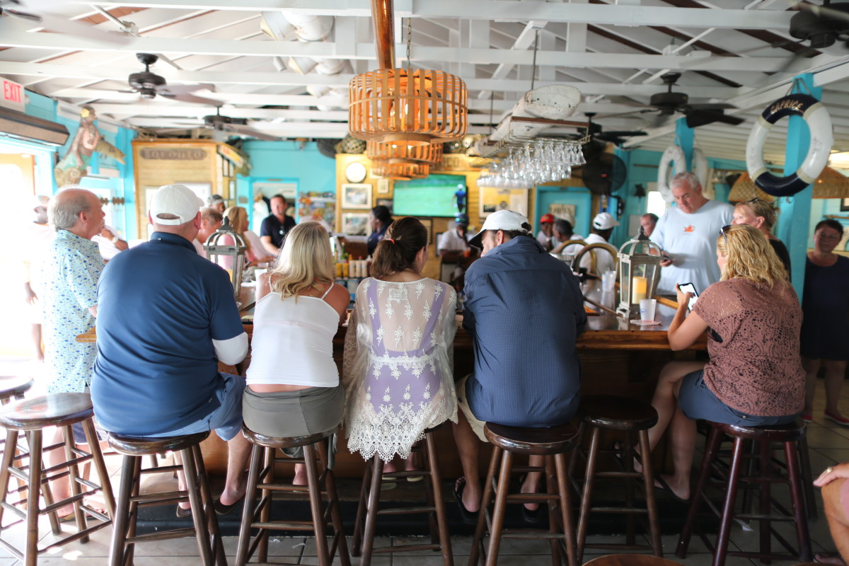 Staniel Cay Yacht Club has one of the world's best bars.