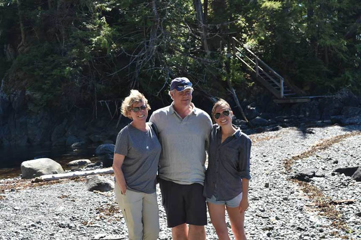 New charter boat owners Ford and Janice Griswold with their daughter, Meghan.