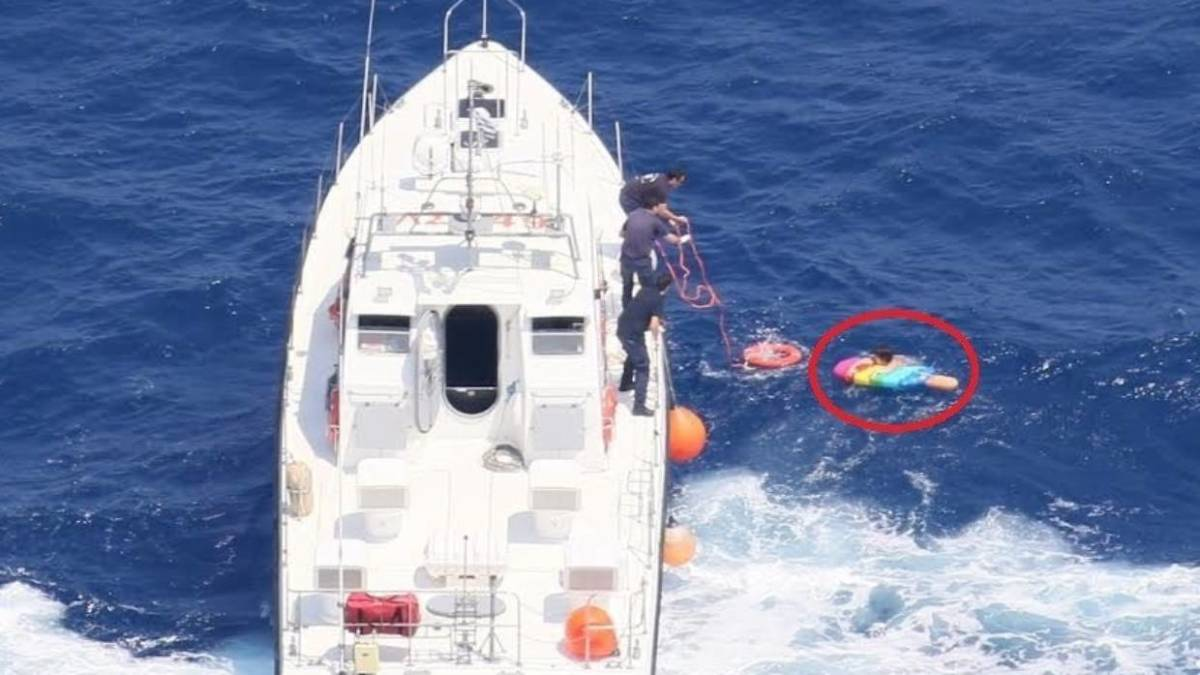 Kuldo spent about 20 hours adrift before being rescued.