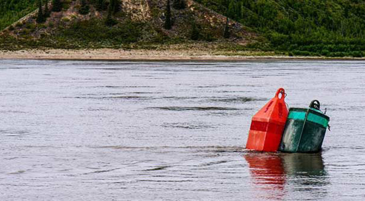 This particular buoy positioning certainly didn't instill confidence in shallow water with a stiff current.