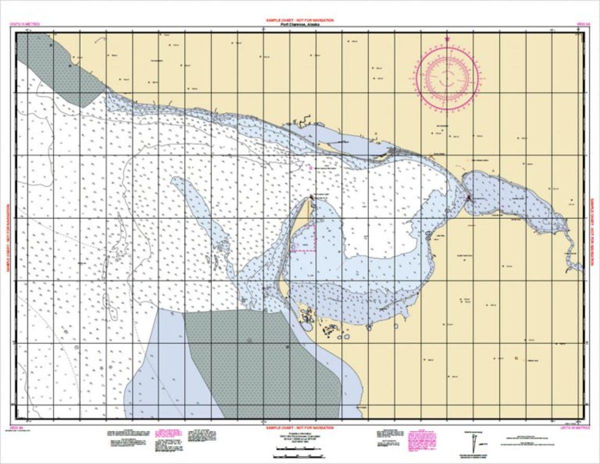 A 1:80,000 scale NOAA Custom Chart of Port Clarence, Alaska.