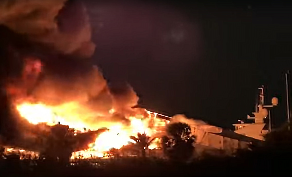 More than 100 firefighters battled the blaze.