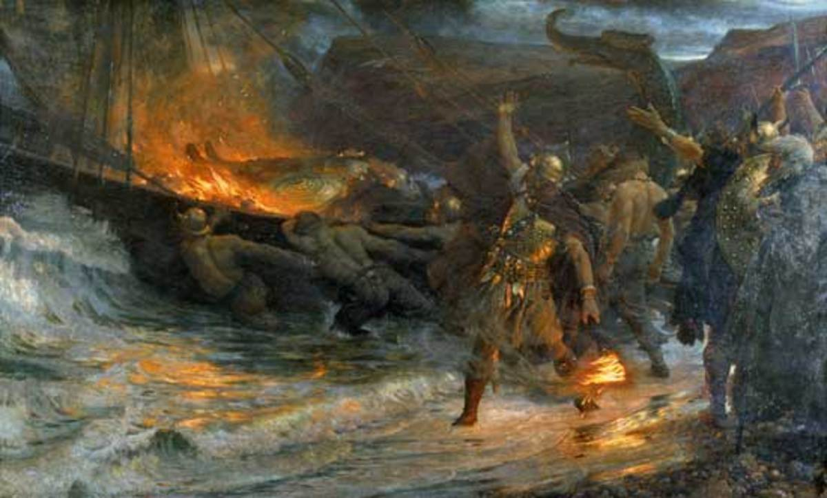 A Norse warrior sets off for Valhalla