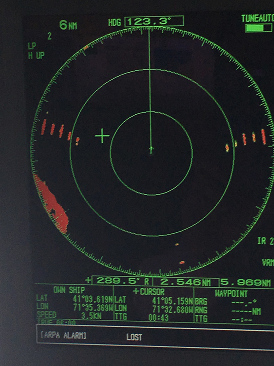 Block Island wind farm radar returns.