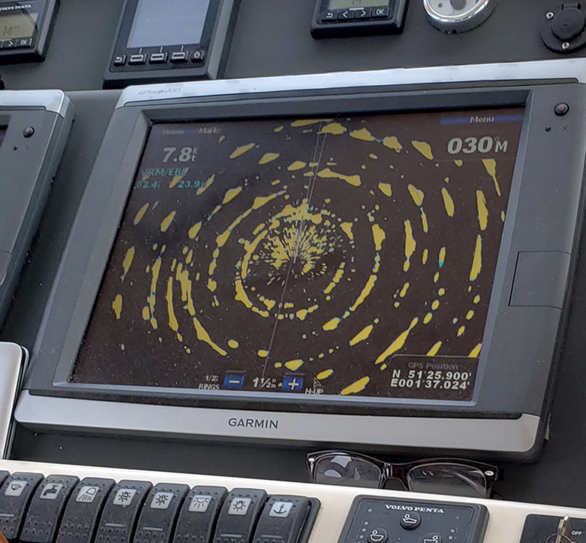 This image depicts radar returns from a U.K wind farm and was provided by Eric Hansen, a member of an ocean advocacy group.