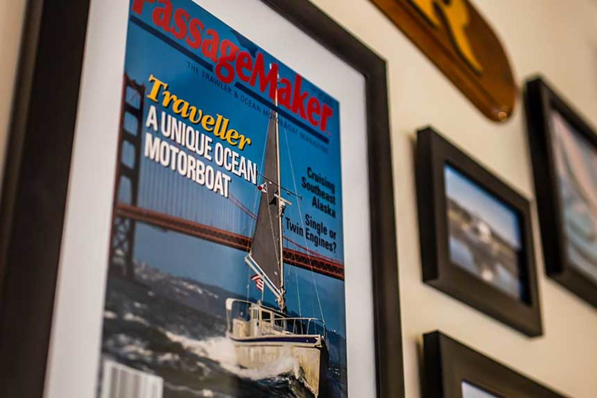 In 1996, Saunders' first powerboat was featured in the third issue of Passagemaker.