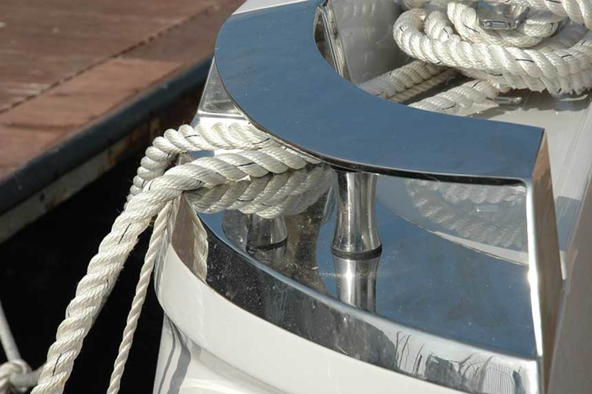 Be sure your fairleads and fittings are substantial enough to handle the size of your mooring lines, without sharp turns.