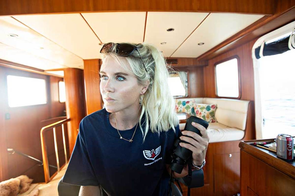 Brooke Palmer obtained her 100-ton captain's license in preparation for living aboard.