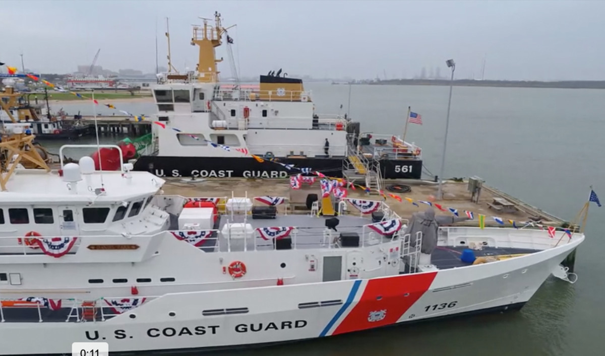 The Coast Guard Daniel Tarr moored at Sector Field Office Galveston, Texas