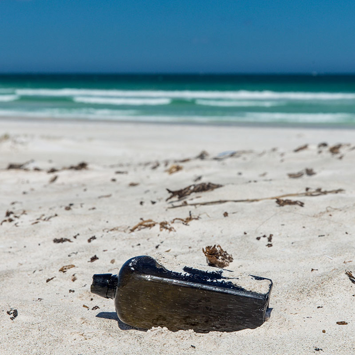 "This 132 year old ""message in a bottle"" was found Tonya Illman on a beach just north of Wedge Island in Australia."