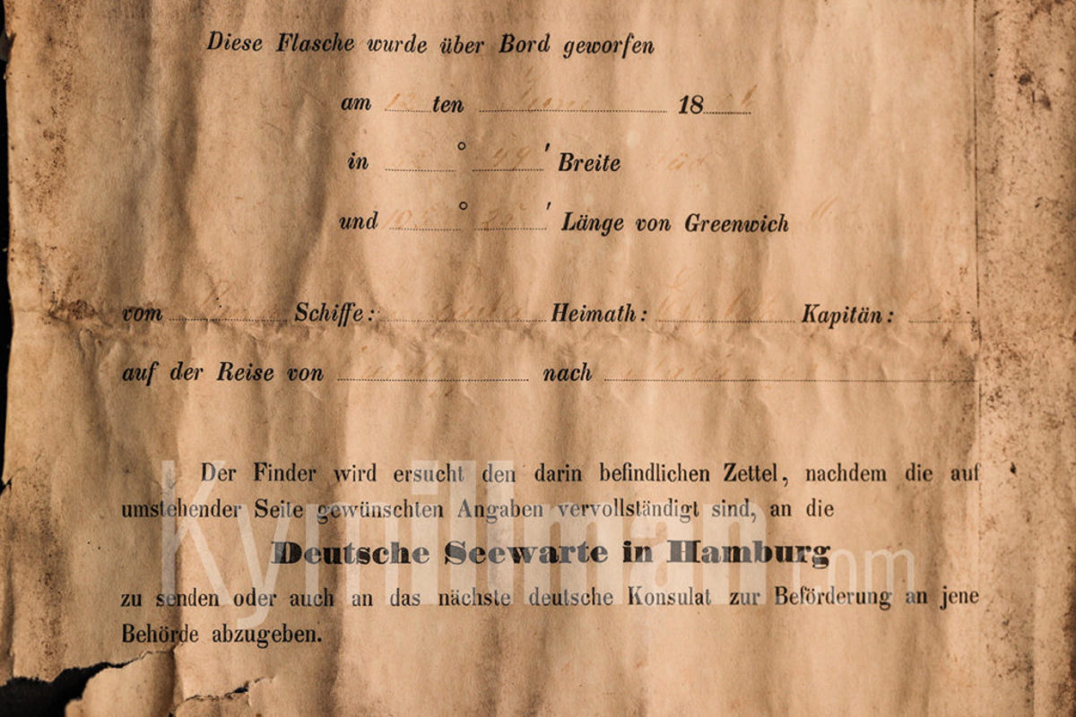 The printed and filled out form for tracking currents informs the recipient to return it to the nearest German Embassy.