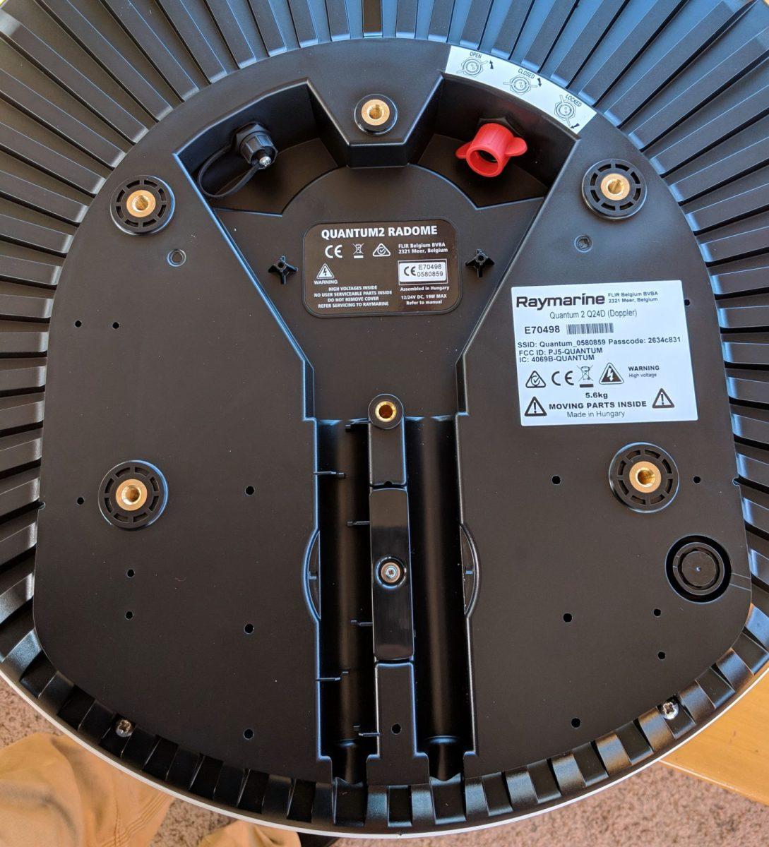 Raymarine Quantum 2 radar underside