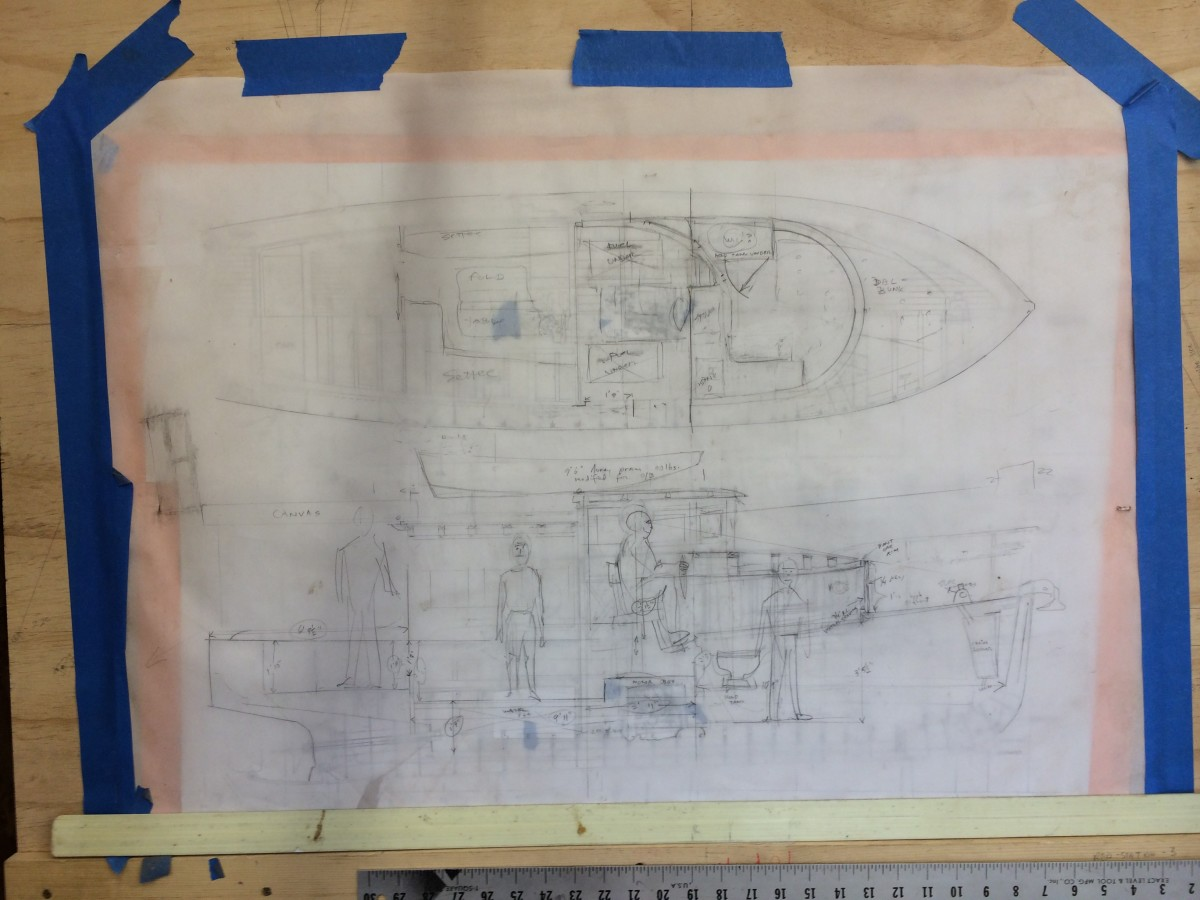 Build plans for the stretched 28 H.C. Hanson Forest Service boat.