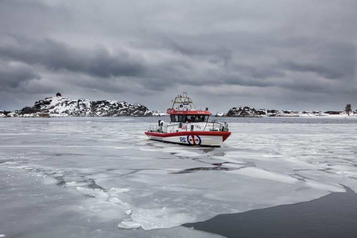 Sea ice is another hazard boat crews face.