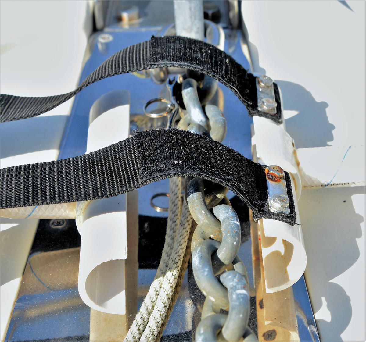 Ed Dettling's anchor chain washdown rig.