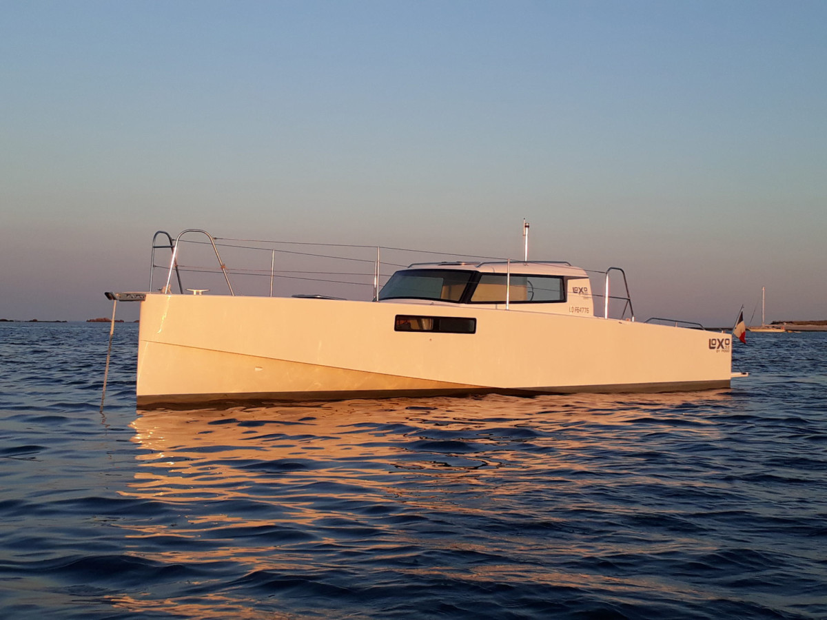 The 32-foot Loxo by the French builder Pogo Structures was the inspiration for Codega's 34-foot concept boat.