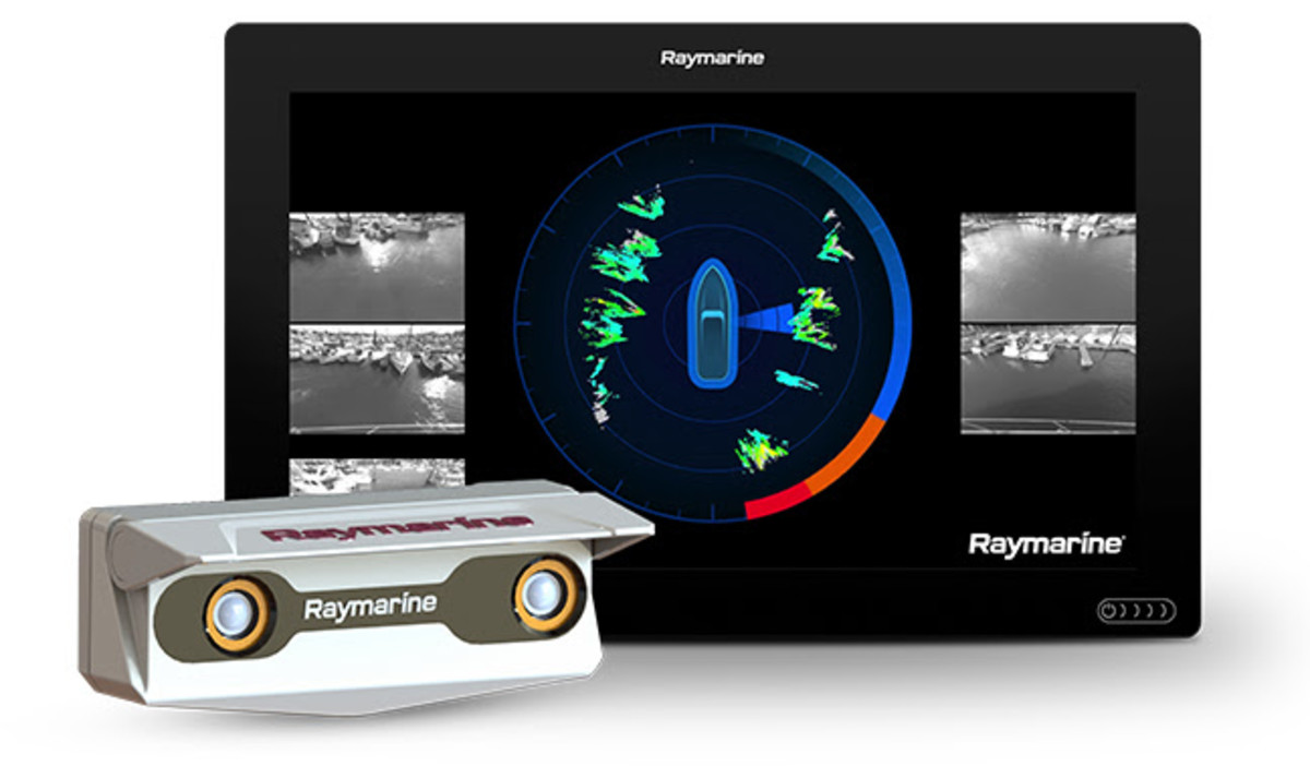 Raymarine's DockSense stereoscopic camera pod.