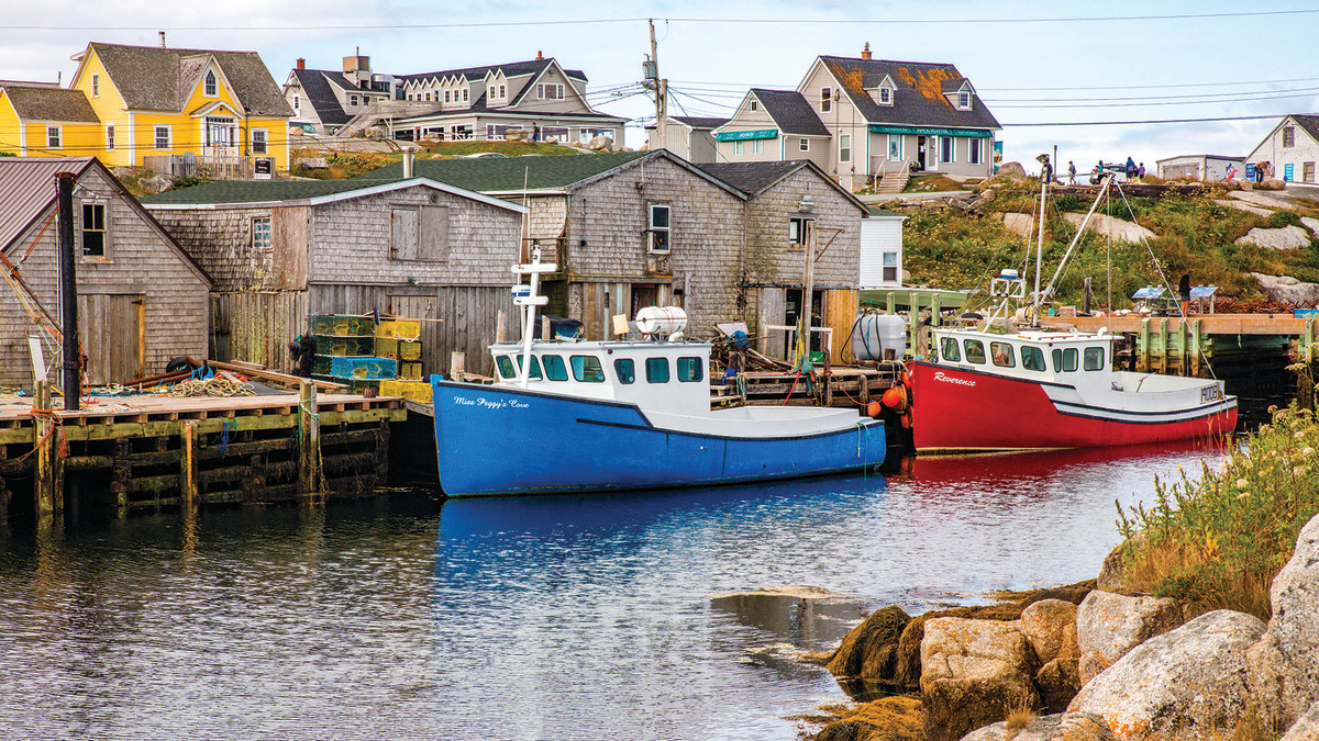 A quiet port after the day's catch in Peggy's Cove, Nova Scotia.