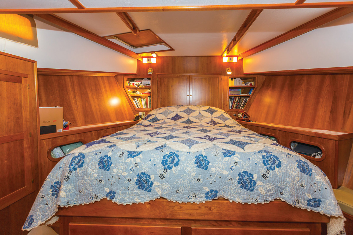 The cozy and liveable master stateroom.
