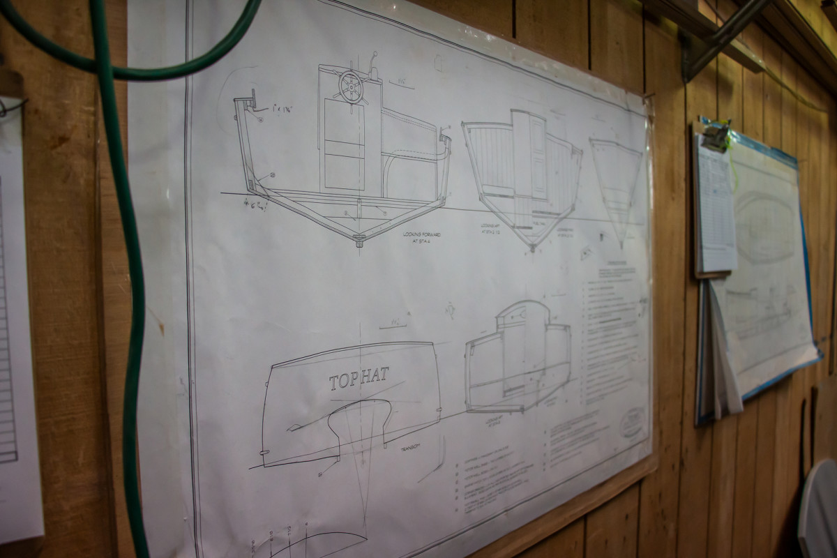Plans for the Doug Hylan 26-foot motor launch, Top Hat.