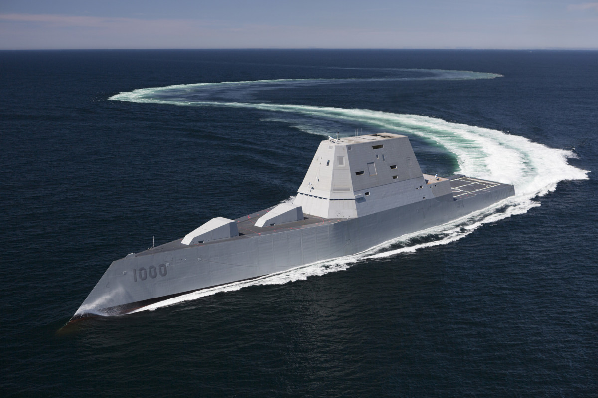 Zumwalt-class stealth destroyers are designed to minimize their radar profile.