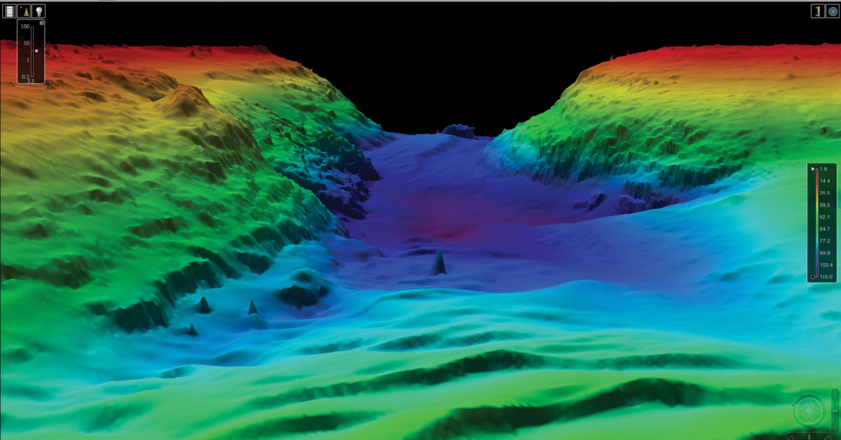 This richly detailed 3D rendering could be the view at your helm thanks to the power of LiDAR.