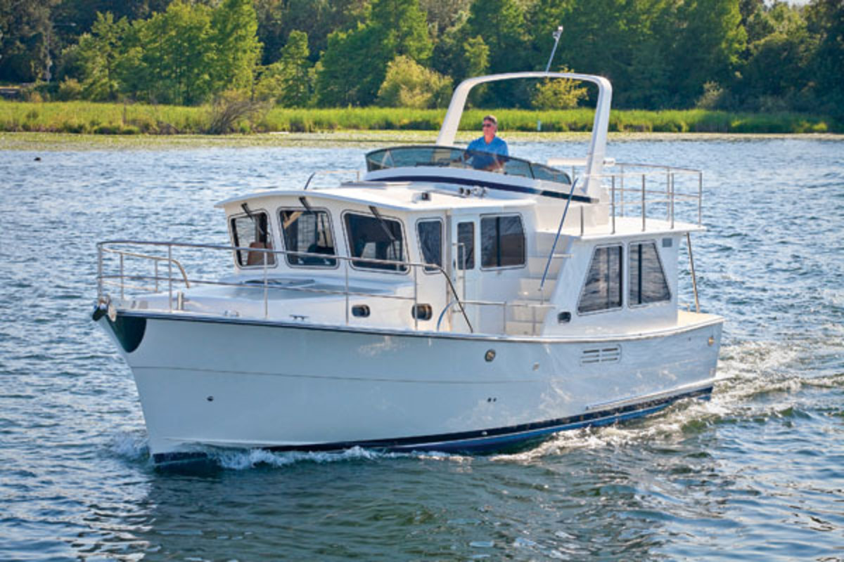Helmsman 38. Helsman Trawlers will display two 38s and a Bracewell 41.