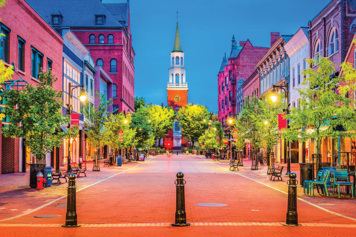 Burlington's Church Street is an historic hub of architecture, restaurants, nightlife and storefronts nestled together amidst the brick and greenery.