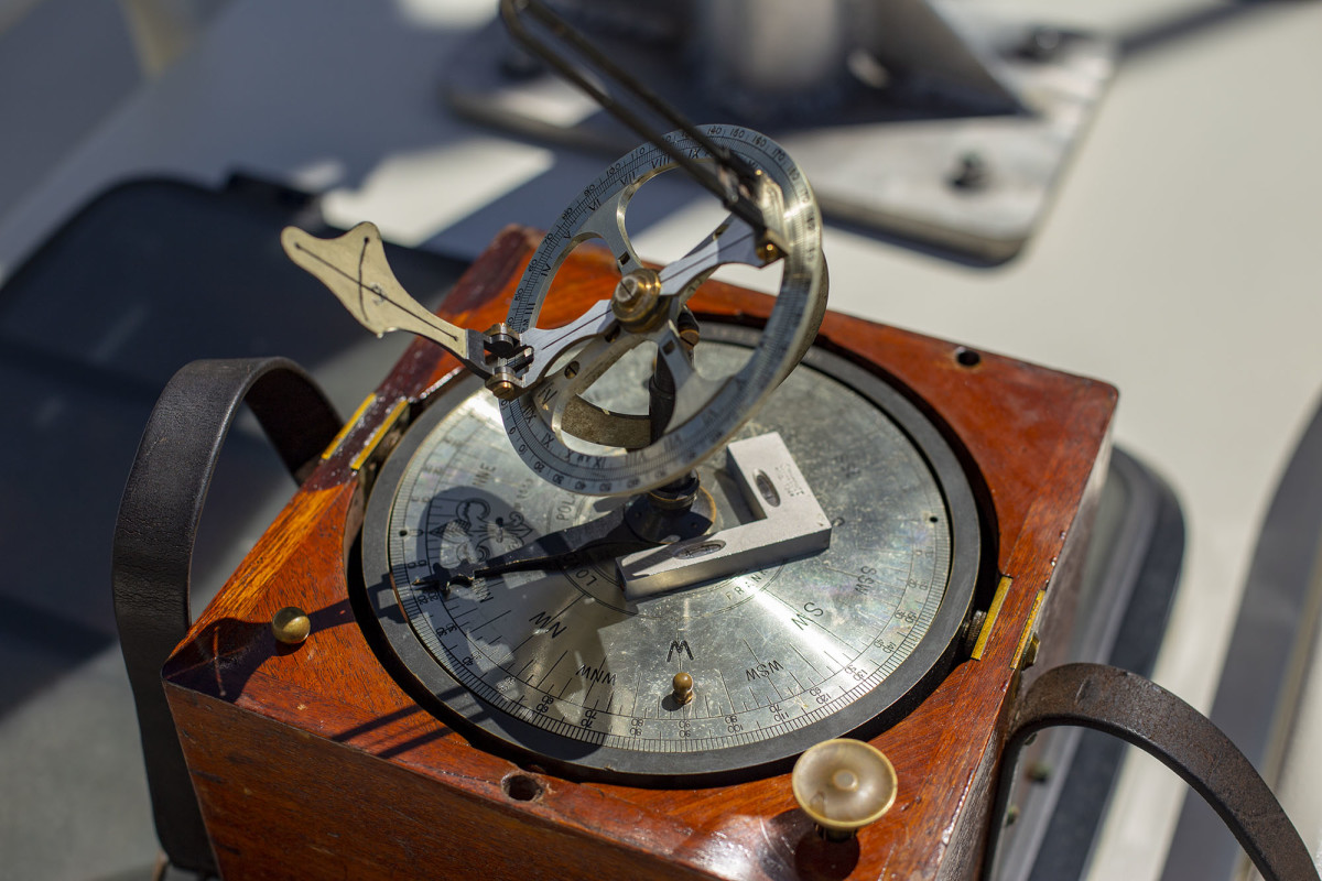 Sternberg's highly accurate compass with azimuth instruments.