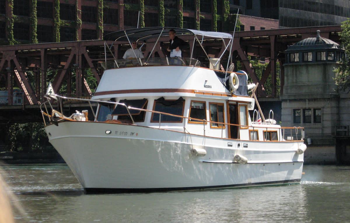"The 38-foot 1980 Marine Trader trawler ""Mazurka"""