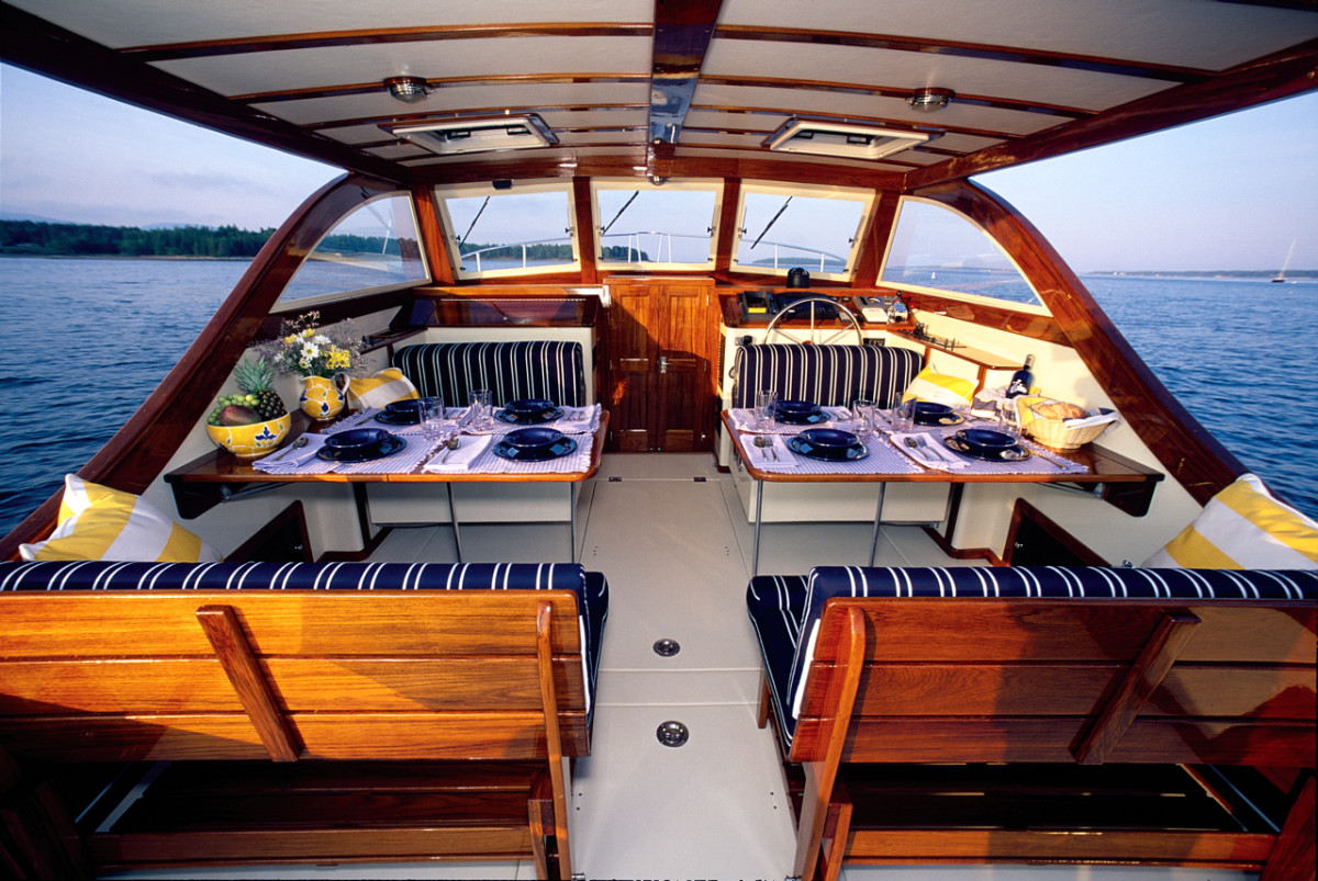 In Maine, you can charter in style aboard an Ellis Boat Charters Ellis 36.