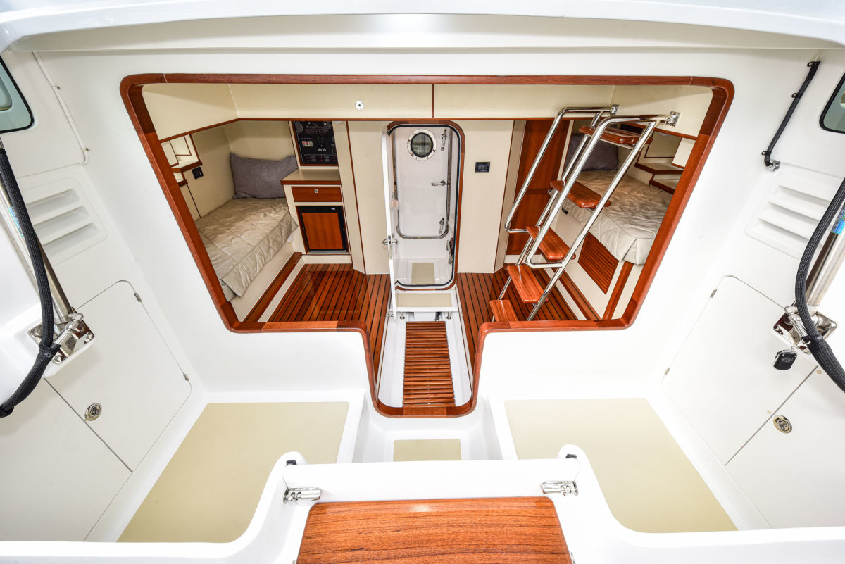 """The redesign enlarged the aft stowage while providing an inviting """"club"""" atmosphere."""